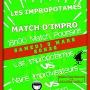 Théâtre d'improvisation : Impropotames vs Nains Improvisateurs vs ...
