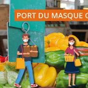 Port du masque obligatoire sur les marchés de Rumilly
