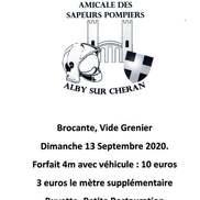 Vide grenier des sapeurs pompiers d'Alby sur Chéran