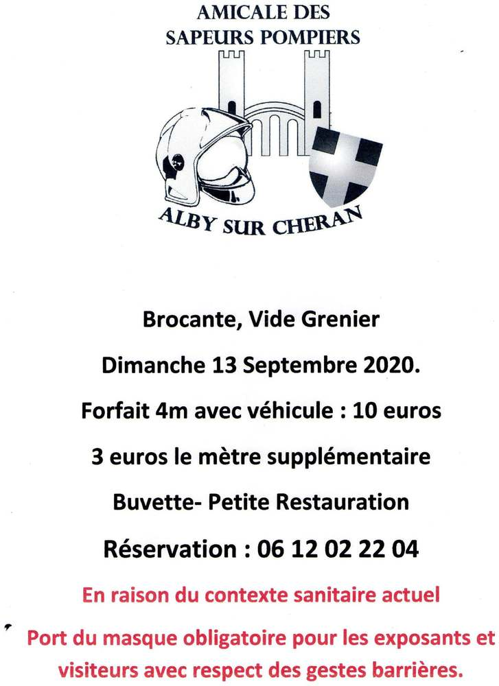 Brocante pompiers alby