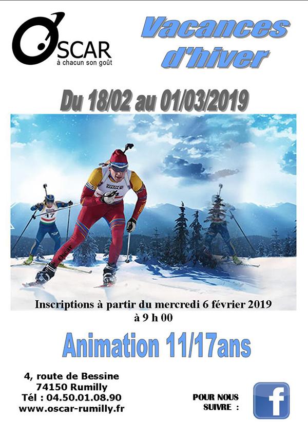 Activités hiver OSCAR Rumilly