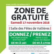 Zone de gratuité à Vallières