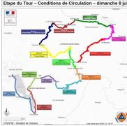 Fermetures de routes autour d'Annecy pour l'étape du Tour