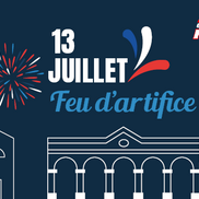 Feu d'artifice du 14 juillet à Rumilly