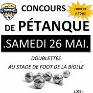 Concours de pétanque du FC Chambotte