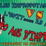 Théâtre d'improvisation : Impropotames vs EFIT