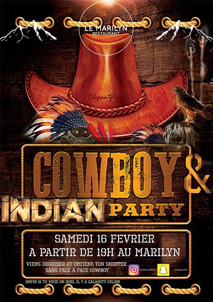 Soirée cowboy et indiens Marilyn