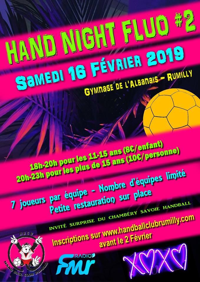 Tournoi handball fluo Rumilly