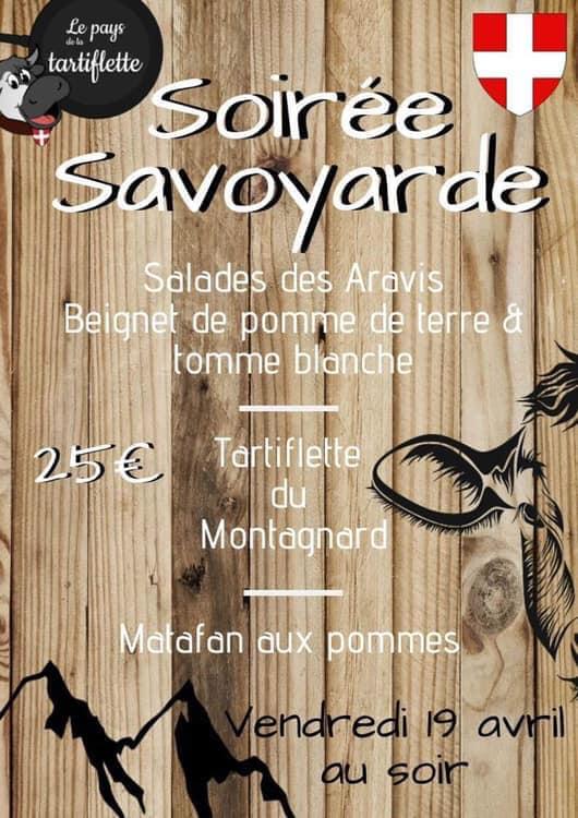 Repas savoyard Tables Étang Montagny