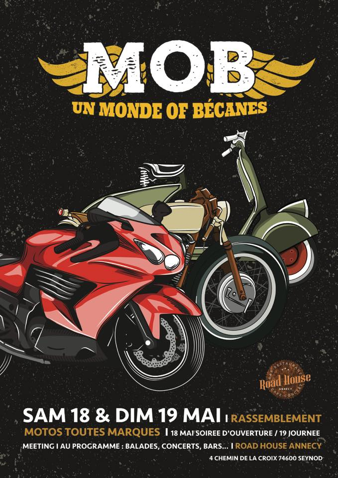 Rassemblement motos Road House Annecy
