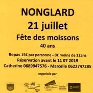 Fête des moissons à Nonglard
