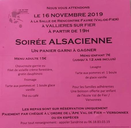 Repas choucroute Val de Fier