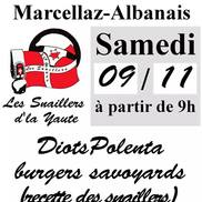 Repas diots, polenta et burgers à Marcellaz