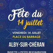 Fête du 14  juillet à Alby-sur-Chéran
