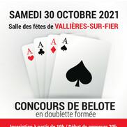 Concours de belote à Vallières sur Fier