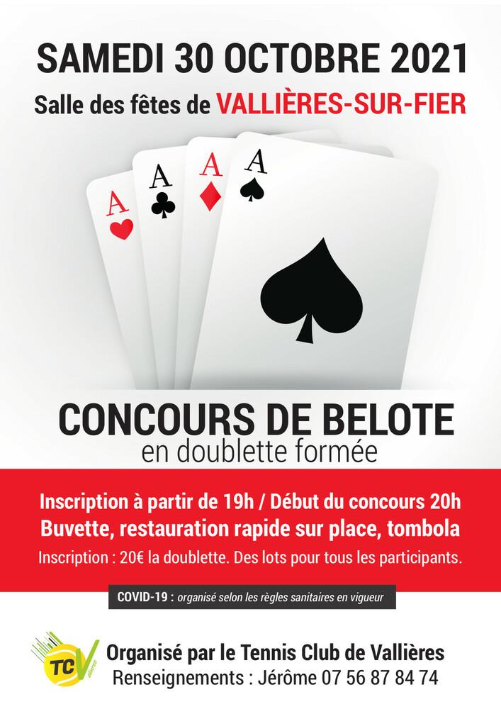 Concours belotte Vallières