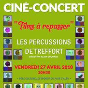 Ciné concert à Alby : Les Percussions de Tréffort
