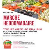 Inauguration du marché hebdomadaire d'Alby sur Chéran