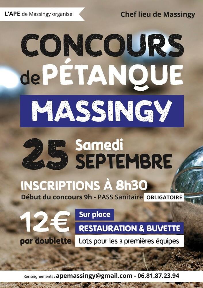 Pétanque Massingy