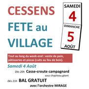 Fête au Village à Cessens