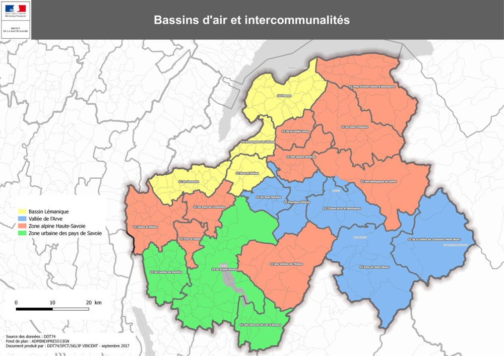Carte pollution Haute Savoie