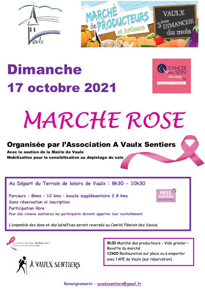 Marche rose Vaulx