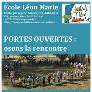 Portes ouvertes de l'école Léon Marie à Marcellaz