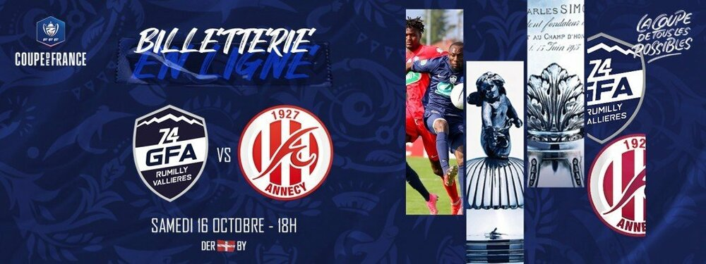 Match foot GFA Rumilly FC Annecy