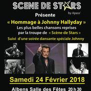 Hommage à Johnny Hallyday par Scène de Stars à Albens