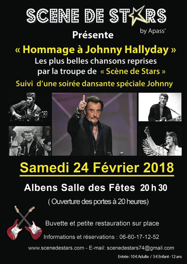 Hommage johnny hallyday par sc ne de stars albens - Johnny hallyday les portes du penitencier ...