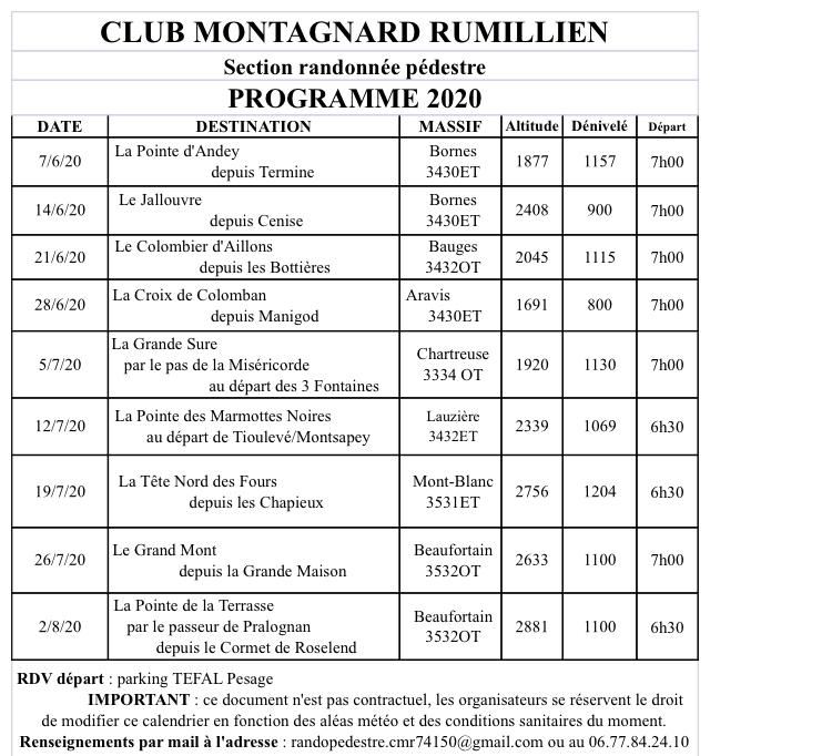 Sorties club montagnard rumilly