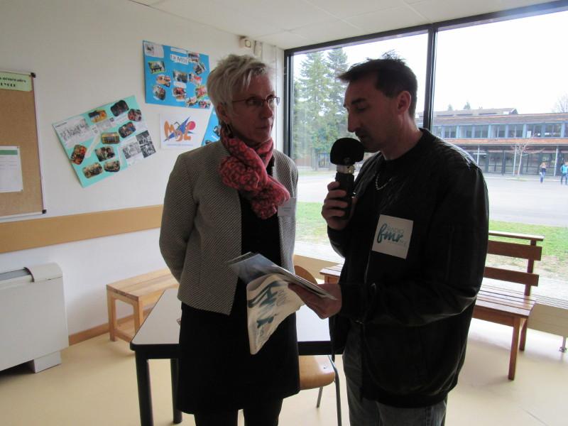 Interview Mme Soeur proviseure Lycée Porte des Alpes Rumilly