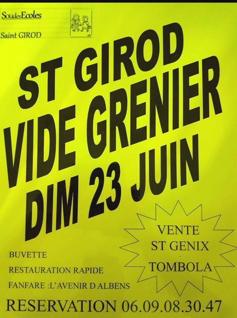 Brocante St Girod