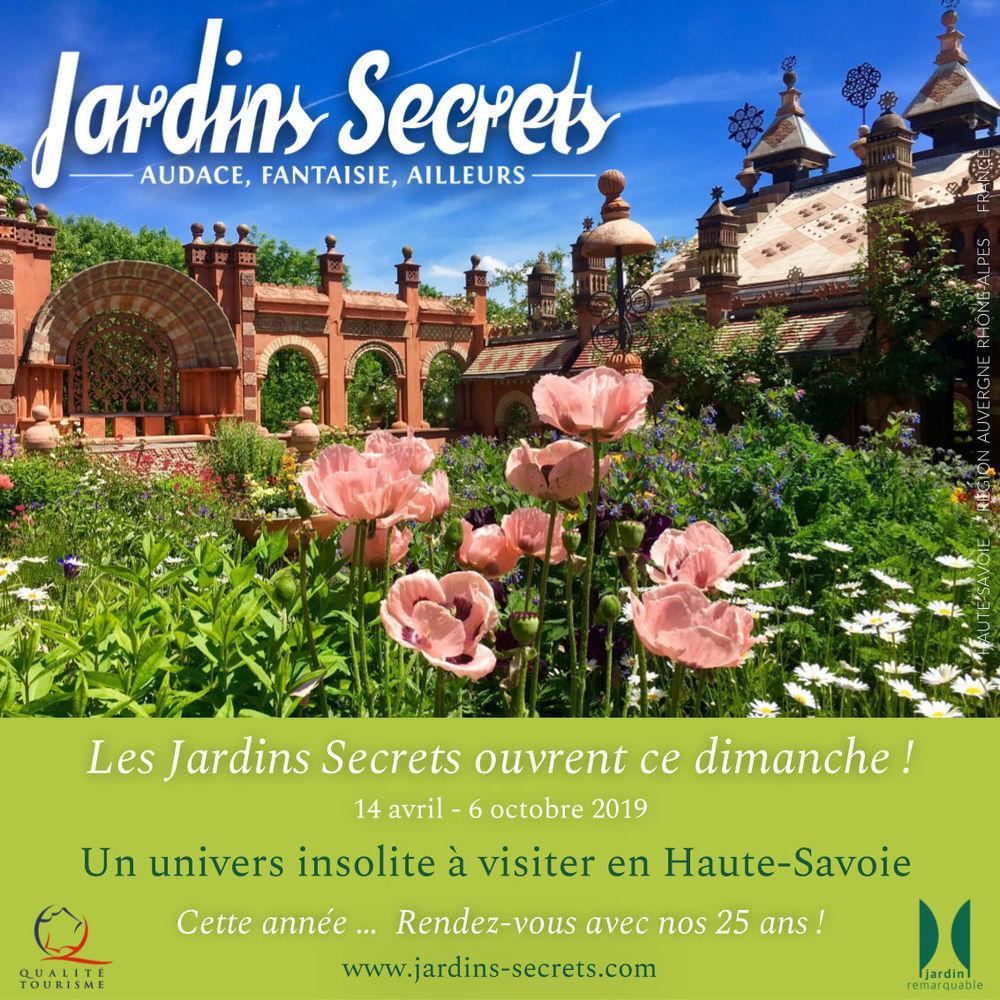 Ouverture Jardins Secrets