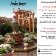 Réouverture des Jardins Secrets à Vaulx
