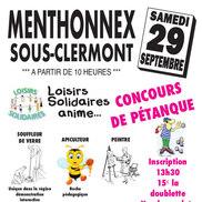 Concours de pétanque et Tartiflette géante à Menthonnex Sous Clermont