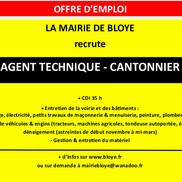 Offre d'emploi pour agent technique à Bloye