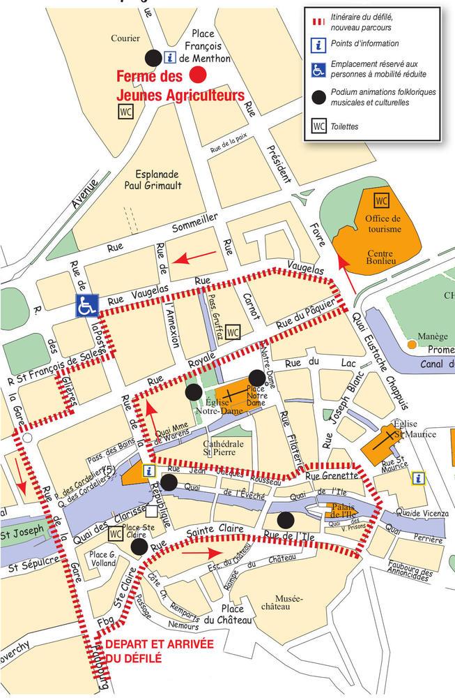 Plan itinéraire descente alpages Annecy