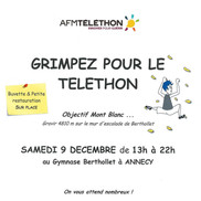 Grimpez pour le Téléthon à Annecy
