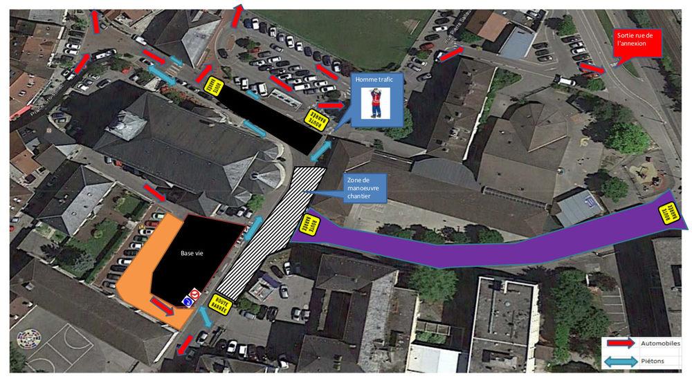schema déviation rue Charles de Gaulle Rumilly