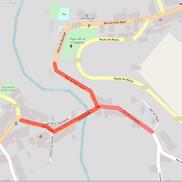 Fermeture de la circulation dans Alby sur Chéran