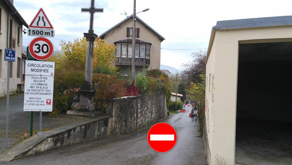 sens interdit rue croix noire