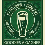 St Patrick et concert Dude à l'Alibi
