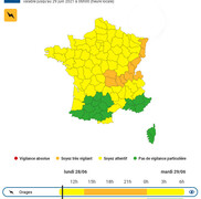 Vigilance orange orages en Haute-Savoie