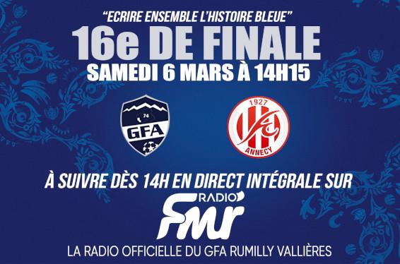 Radio FMR en direct du match GFA Rumilly FC Annecy